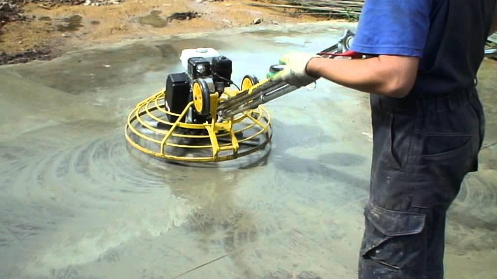 Затирочные машины по бетону для получения гладкой поверхности пола